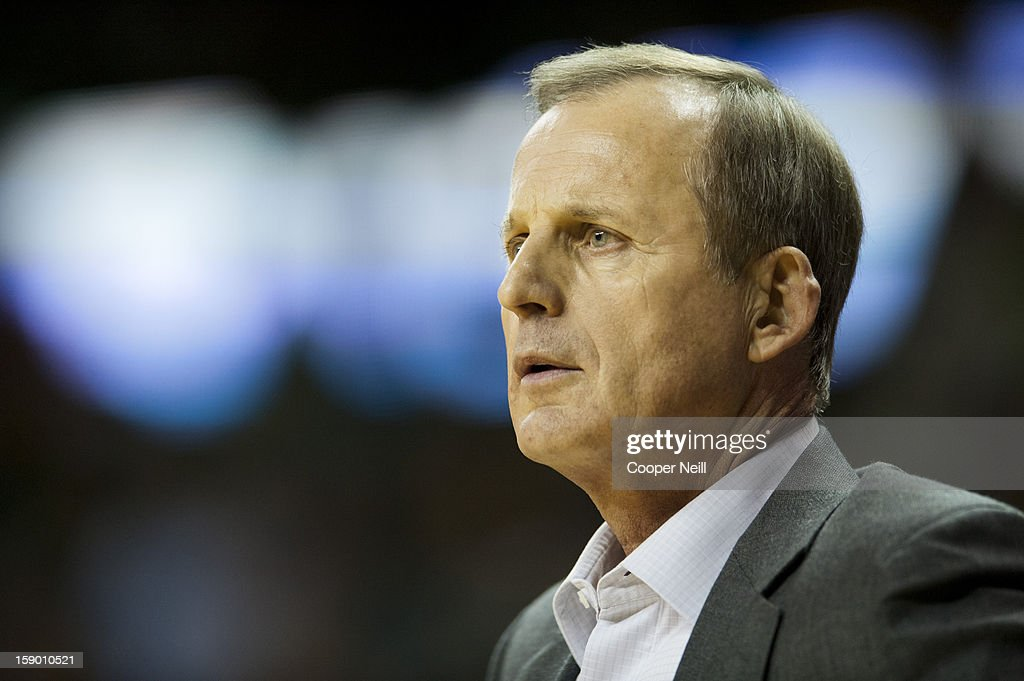 Head coach <a gi-track='captionPersonalityLinkClicked' href=/galleries/search?phrase=Rick+Barnes&family=editorial&specificpeople=728815 ng-click='$event.stopPropagation()'>Rick Barnes</a> of the University of Texas Longhorns looks on against the Baylor University Bears on January 5, 2013 at the Ferrell Center in Waco, Texas.