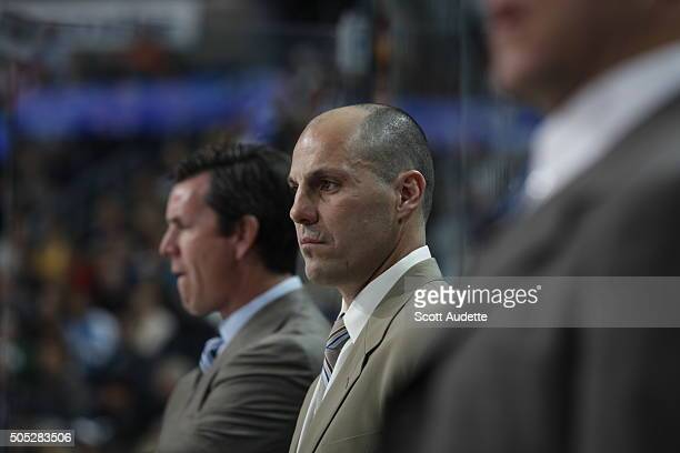 Head Coach Rick Tocchet of the Tampa Bay Lightning looks on from the bench against of the Pittsburgh Penguins at the St Pete Times Forum on March 3...