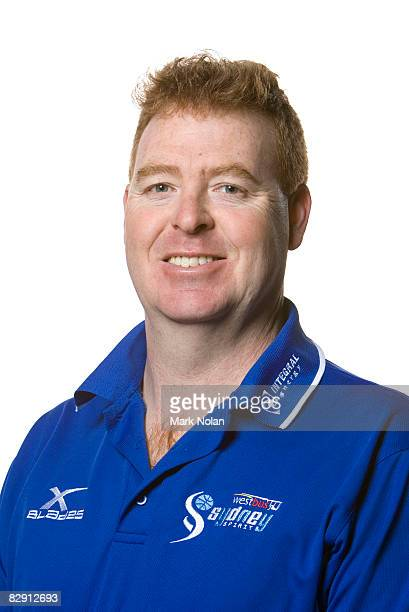 Head coach Rob Beveridge of the Spirit poses during the official Sydney Spirit 2008/2009 NBL portrait session at the Auburn Basketball Centre on...