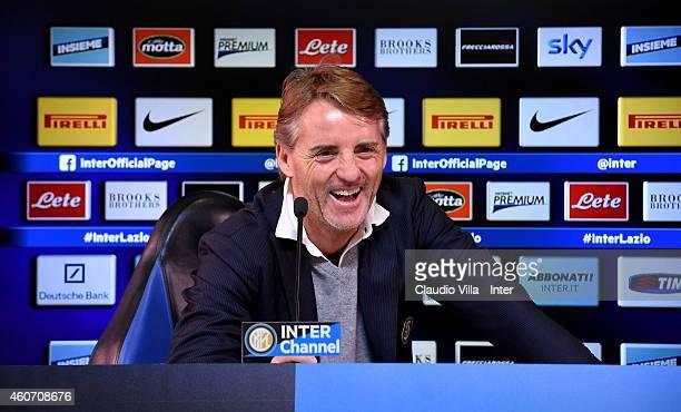 Head coach Roberto Mancini during FC Internazionale Press Conference at Appiano Gentile on December 20 2014 in Como Italy