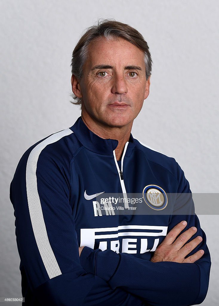 Head coach Roberto Mancini poses prior to the FC Internazionale Training Session at Appiano Gentile on November 19, 2014 in Como, Italy.