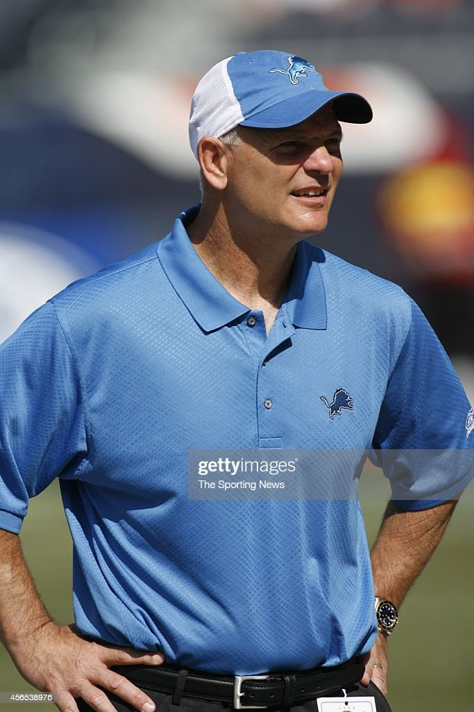 Head Coach Rod Marinelli of the Detroit Lions looks on before a game against the Chicago Bears on September 17, 2006 at Soldier Field Stadium in Chicago, Illinois.