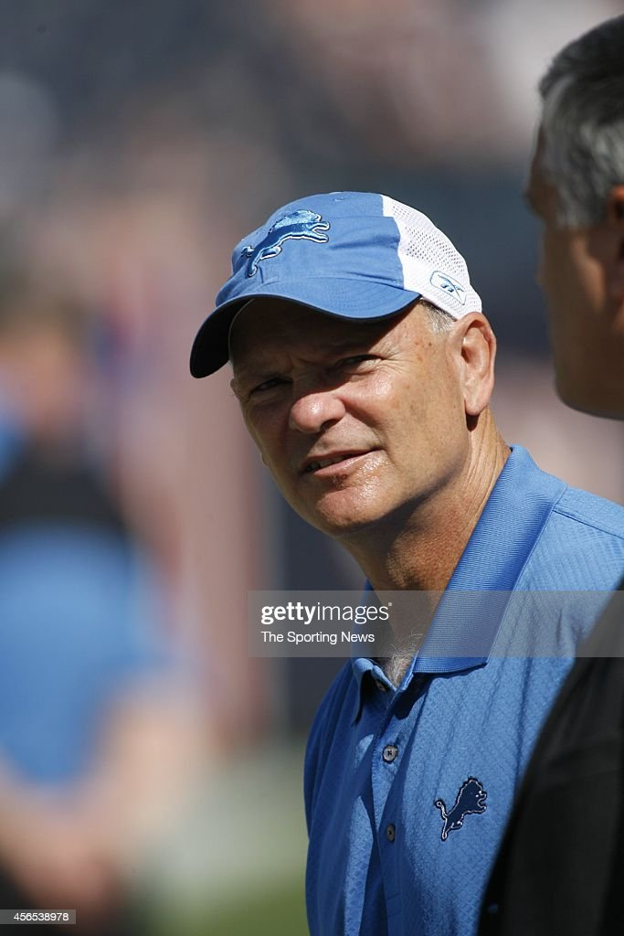 Head Coach <a gi-track='captionPersonalityLinkClicked' href=/galleries/search?phrase=Rod+Marinelli&family=editorial&specificpeople=597998 ng-click='$event.stopPropagation()'>Rod Marinelli</a> of the Detroit Lions looks on before a game against the Chicago Bears on September 17, 2006 at Soldier Field Stadium in Chicago, Illinois.