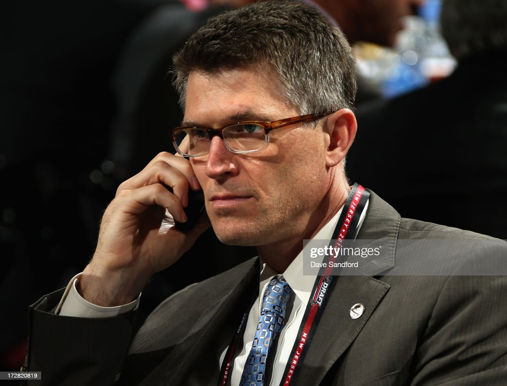 Head coach Ron Rolston of the Buffalo Sabres attends during the 2013 NHL Draft at Prudential Center on June 30, 2013 in Newark, New Jersey.