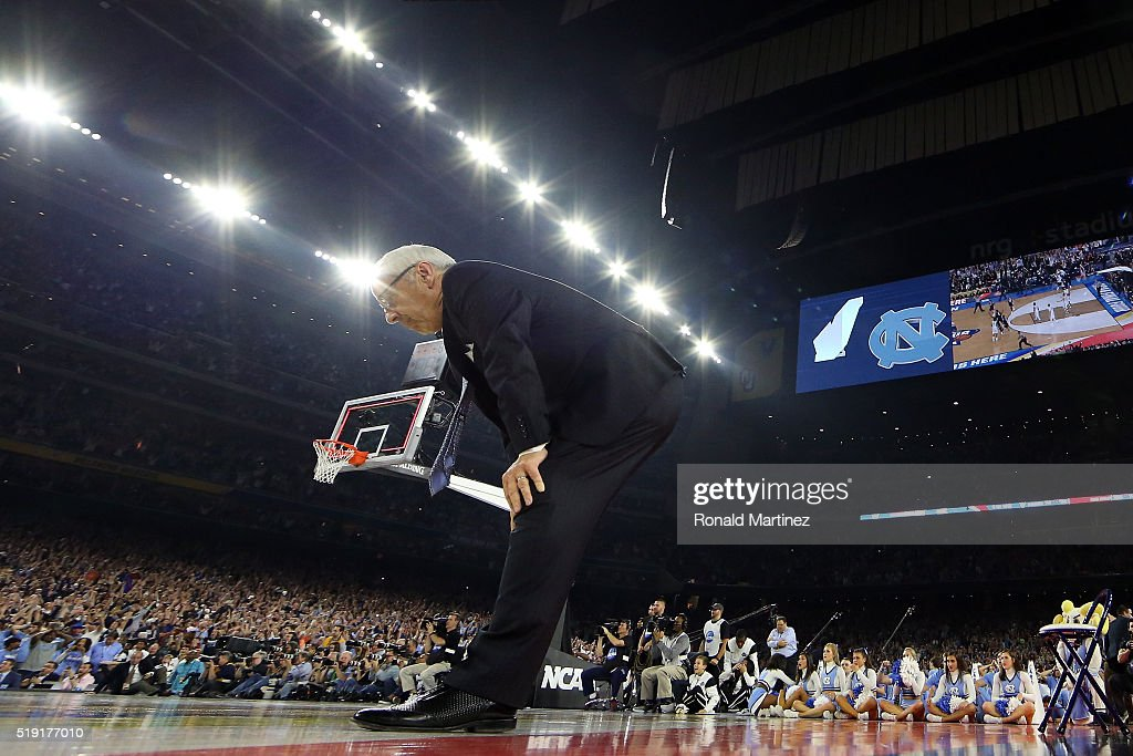 Head coach <a gi-track='captionPersonalityLinkClicked' href=/galleries/search?phrase=Roy+Williams+-+Basketballtrainer&family=editorial&specificpeople=5086044 ng-click='$event.stopPropagation()'>Roy Williams</a> of the North Carolina Tar Heels reacts after being defeated by the Villanova Wildcats 77-74 in the 2016 NCAA Men's Final Four National Championship game at NRG Stadium on April 4, 2016 in Houston, Texas.