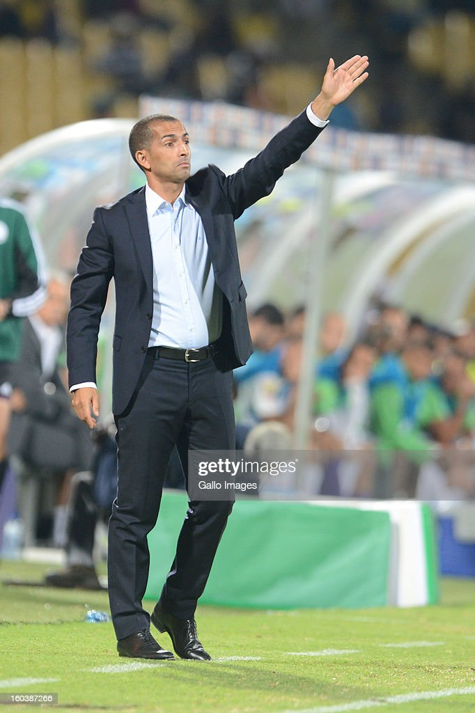 Head coach Sabri Lamouchi from France during the 2013 African Cup of Nations match between Algeria and Ivory Coast at Royal Bafokeng Stadium on January 30, 2013 in Rustenburg, South Africa.