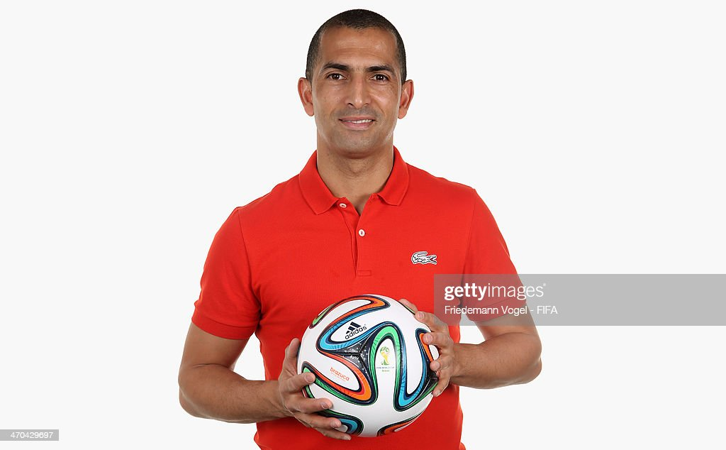 Head coach <a gi-track='captionPersonalityLinkClicked' href=/galleries/search?phrase=Sabri+Lamouchi&family=editorial&specificpeople=648801 ng-click='$event.stopPropagation()'>Sabri Lamouchi</a> of Code d Ivoire poses during the FIFA Team Workshop for the 2014 FIFA World Cup Brazil on February 19, 2014 in Florianopolis, Brazil.