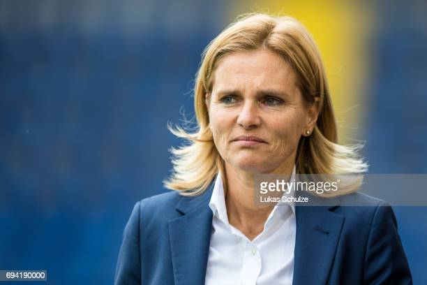 Head Coach Sarina Wiegman of Netherlands looks up prior to the Women's International Friendly match between Netherlands and Japan at Rat Verlegh...