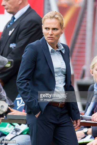 Head coach Sarina Wiegman of the Netherlands looks on during their Group A match between Netherlands and Norway during the UEFA Women's Euro 2017 at...