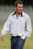 Head coach Sean Everitt of Sharks XV during the Vodacom Cup match between Sharks XV and ICBC Pampas XV at Kings Park on April 26 2013 in Durban South...
