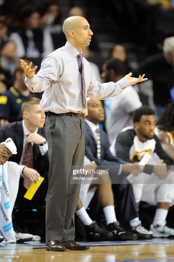 Head coach <a gi-track='captionPersonalityLinkClicked' href=/galleries/search?phrase=Shaka+Smart&family=editorial&specificpeople=6845771 ng-click='$event.stopPropagation()'>Shaka Smart</a> of the Virginia Commonwealth Rams reacts to a call during the Progressive Legends Classic college basketball game against the Villanova Wildcats at the Barclays Center on November 24, 2014 in the Brooklyn borough of New York City. The Wildcats won 70-53.