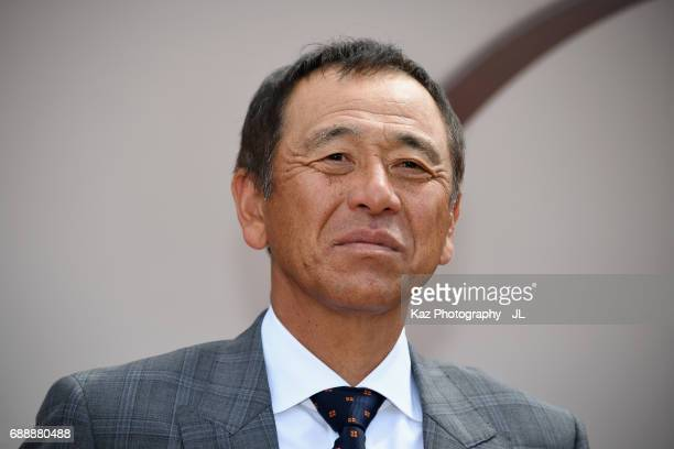 Head coach Shinji Kobayashi of Shimizu SPulse looks on prior to the JLeague J1 match between Shimizu SPulse and Yokohama FMarinos at IAI Stadium...