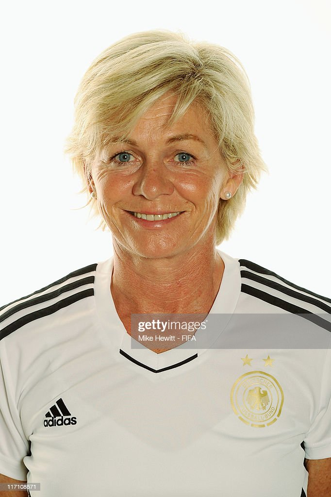 Head coach Silvia Neid poses of Germany during the FIFA portrait session on June 22 2011 in Berlin Germany