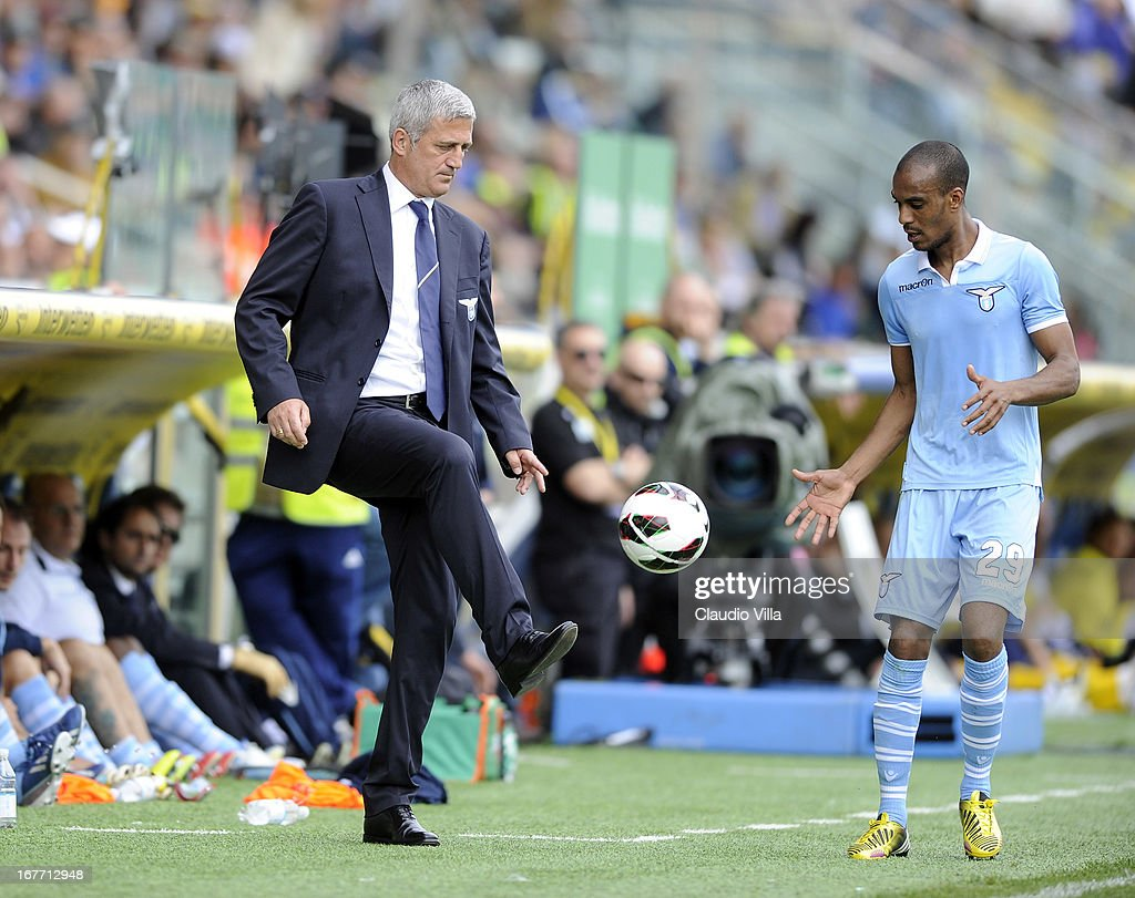 Head coach S.S. Lazio Vladimir Petkovic during the Serie A match between Parma FC and S.S. Lazio at Stadio Ennio Tardini on April 28, 2013 in Parma, Italy.