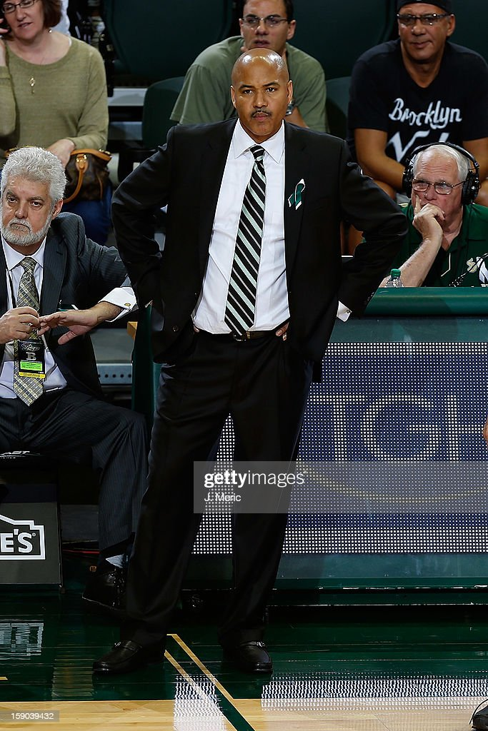 Head coach Stan Heath of the South Florida Bulls directs his team against the Syracuse Orange during the game at the Sun Dome on January 6, 2013 in Tampa, Florida.