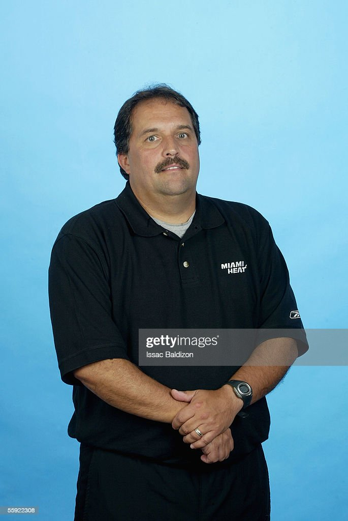 Head coach Stan Van Gundy of the Miami Heat poses for a portrait during 2005 NBA Media Day on October 3, 2005 at American Airlines Arena in Miami, Florida.