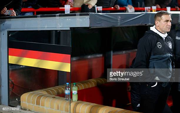 Head coach Stefan Kuntz of Germany looks on prior to the U21 International Friendly match between U21 Germany and U21 Turkey at Stadion An der Alten...