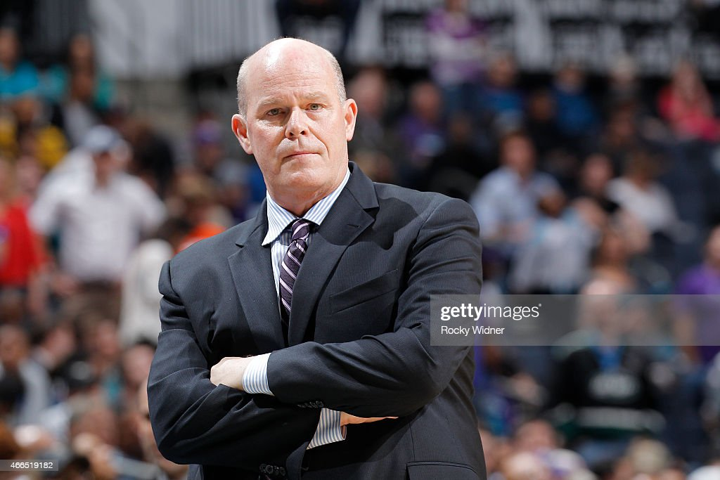 Head Coach Steve Clifford of the Charlotte Hornets coaches against the Sacramento Kings on March 11, 2015 at Time Warner Cable Arena in Charlotte, North Carolina.