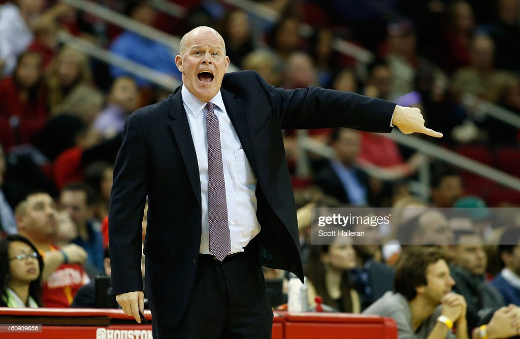 Head coach Steve Clifford of the Charlotte Hornets watches a play during their game against the Houston Rockets at the Toyota Center on December 31...