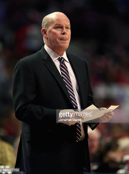 Head coach Steve Clifford of the Charlotte Hornets watches as his team takes on the Chicago Bulls at the United Center on February 25 2015 in Chicago...