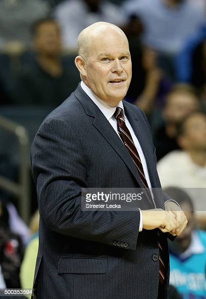 Head coach Steve Clifford of the Charlotte Hornets watches on during their game against the Detroit Pistons at Time Warner Cable Arena on December 7...