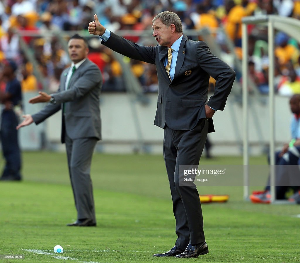 Head coach Stuart Baxter of Kaizer Chiefs during the Absa Premiership match between AmaZulu and Kaizer Chiefs at Moses Mabida Stadium on December 22, 2013 in Durban, South Africa.