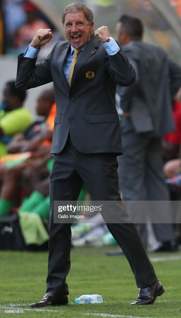 Head Coach Stuart Baxter of Kaizer Chiefs during the Absa Premiership match between AmaZulu and Kaizer Chiefs at Moses Mabida Stadium on December 22...