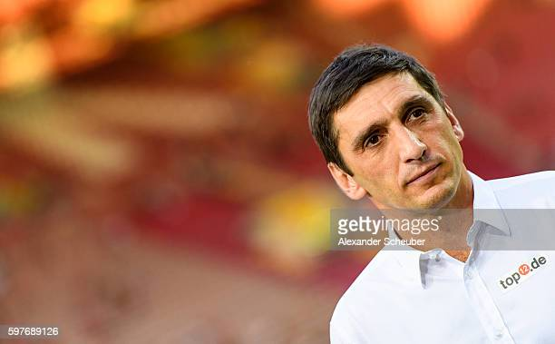Head coach Tayfun Korkut of FC Kaiserslautern is seen prior the Second Bundesliga match between 1 FC Kaiserslautern and Fortuna Duesseldorf at...