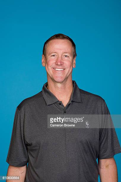 Head Coach Terry Stotts of the Portland Trail Blazers poses for a headshot during the 20162017 Portland Trail Blazers media day on September 26 2016...