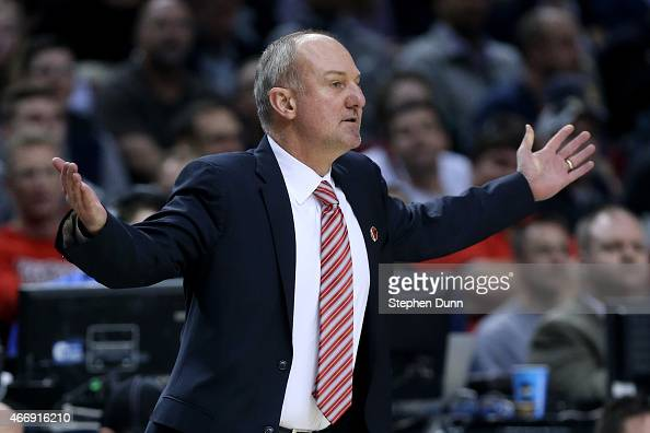 Head coach Thad Matta of Ohio State Buckeyes looks on as the Ohio State Buckeyes play the Virginia Commonwealth Rams in the first half during the...