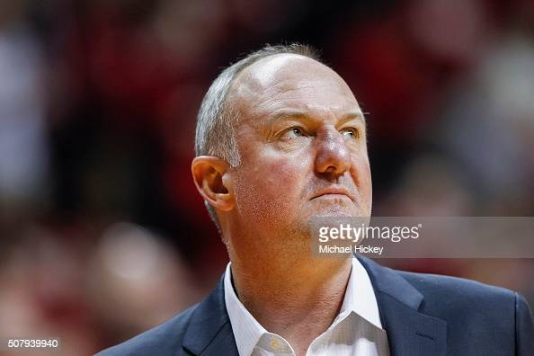 Head coach Thad Matta of the Ohio State Buckeyes is seen during the game against the Indiana Hoosiers at Assembly Hall on January 10 2016 in...