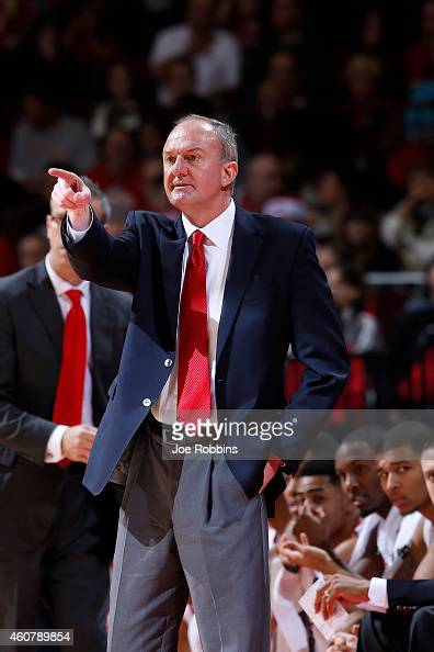 Head coach Thad Matta of the Ohio State Buckeyes looks on during the game against the Miami Redhawks at Value City Arena on December 22 2014 in...