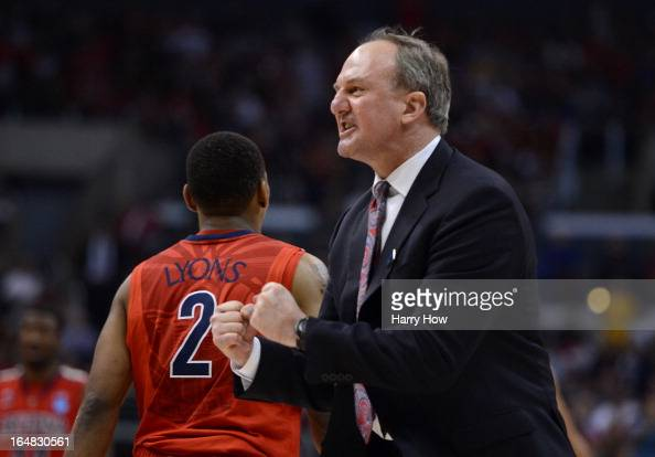 Head coach Thad Matta of the Ohio State Buckeyes reacts in the second half while taking on the Arizona Wildcats during the West Regional of the 2013...