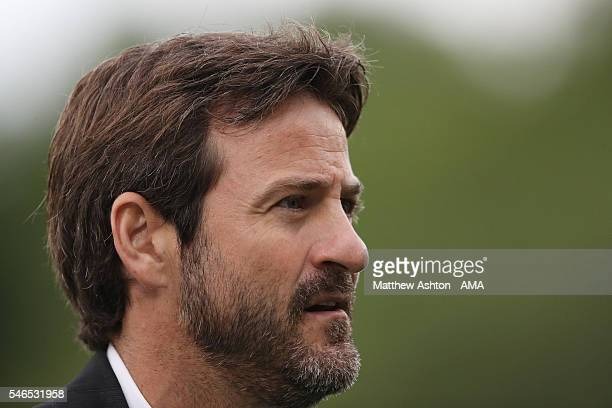 Head coach Thomas Christiansen of Apoel Nicosia FC looks on during the UEFA Champions League Qualifier match between The New Saints and Apoel Nicosia...