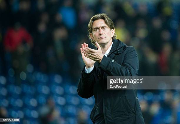 Head Coach Thomas Frank of Brondby IF looks on during the Danish Superliga match between Brondby IF and FC Midtjylland at the Brondby Stadium on May...