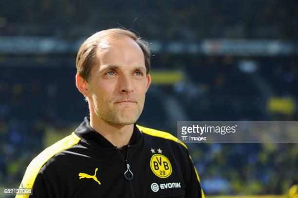 Head coach Thomas Tuchel of Dortmund looks on during the Bundesliga match between Borussia Dortmund and TSG 1899 Hoffenheim at Signal Iduna Park on...