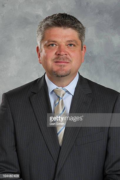 Head coach Todd McLellan of the San Jose Sharks poses for his official headshot for the 20102011 NHL season at HP Pavilion at San Jose on September...