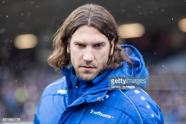 Head coach Torsten Frings of Darmstadt looks on prior to the Friendly Match between SV Darmstadt 98 and VfL Bochum at JonathanHeimesStadion am...