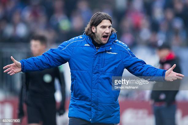 Head coach Torsten Frings of Darmstadt reacts during the Bundesliga match between SV Darmstadt 98 and 1 FC Koeln at JonathanHeimesStadion am...