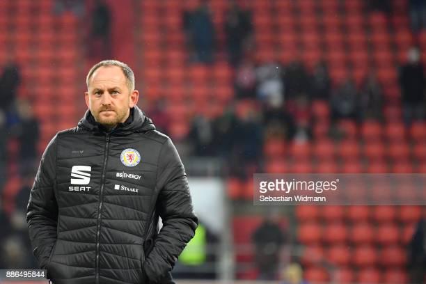 Head coach Torsten Lieberknecht of Braunschweig prior to the Second Bundesliga match between FC Ingolstadt 04 and Eintracht Braunschweig at Audi...