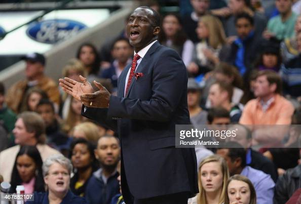 Head coach Tyrone Corbin of the Utah Jazz at American Airlines Center on February 7 2014 in Dallas Texas NOTE TO USER User expressly acknowledges and...