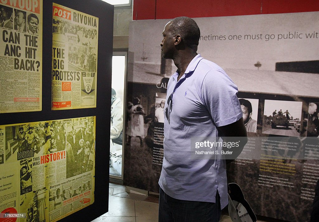 Head Coach Tyrone Corbin of the Utah Jazz during the Basketball Without Boarders visit to the Apartheid Museum in Johannesburg, South Africa.