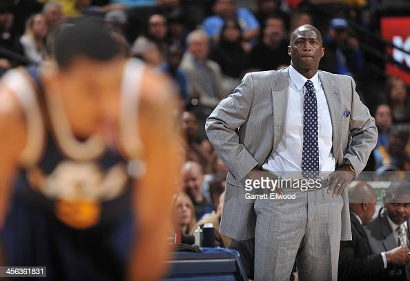 Head Coach Tyrone Corbin of the Utah Jazz looks on against the Denver Nuggets on December 13 2013 at the Pepsi Center in Denver Colorado NOTE TO USER...