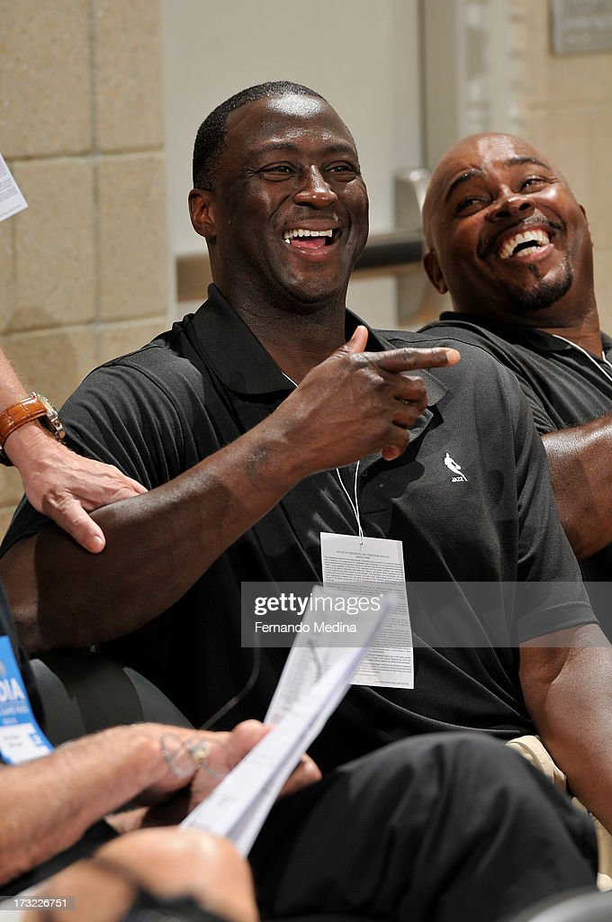 Head Coach Tyrone Corbin of the Utah Jazz looks on against the Brooklyn Nets during the 2013 Southwest Airlines Orlando Pro Summer League on July 10, 2013 at Amway Center in Orlando, Florida.