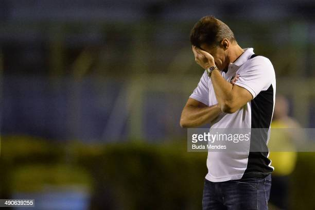Head coach Vagner Mancini of Botafogo in action during a match between Botafogo and Goias as part of Brasileirao Series A 2014 at Mario Helenio...