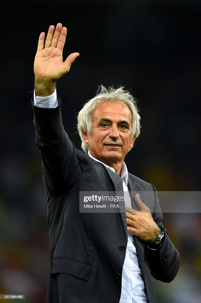 Head coach Vahid Halilhodzic of Algeria acknowledges the fans after a 1-1 draw during the 2014 FIFA World Cup Brazil Group H match between Algeria and Russia at Arena da Baixada on June 26, 2014 in Curitiba, Brazil.