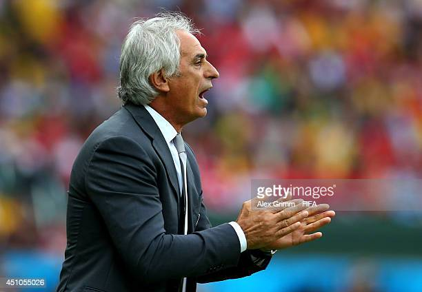 Head coach Vahid Halilhodzic of Algeria gestures during the 2014 FIFA World Cup Brazil Group H match between Korea Republic and Algeria at Estadio...