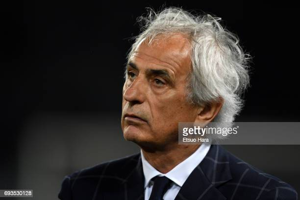 Head coach Vahid Halilhodzic of Japan looks on after the international friendly match between Japan and Syria at Tokyo Stadium on June 7 2017 in...