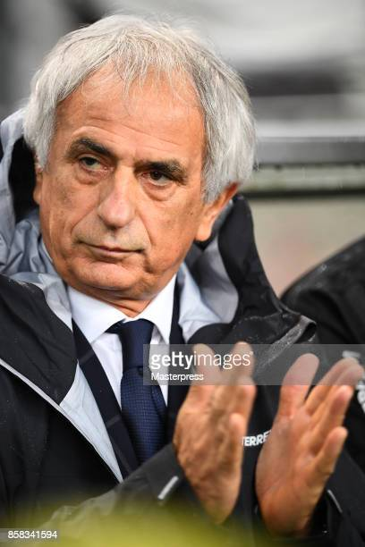 Head coach Vahid Halilhodzic of Japan looks on during the international friendly match between Japan and New Zealand at Toyota Stadium on October 6...