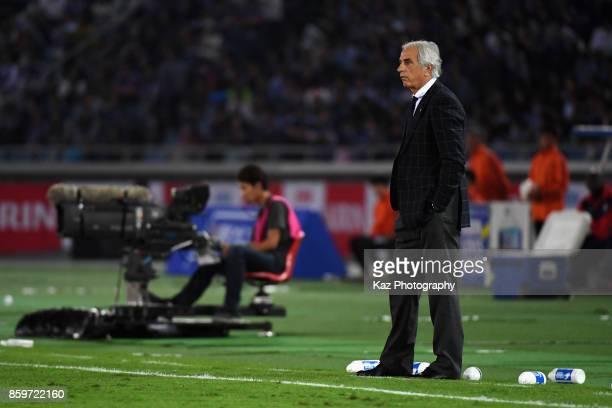 Head coach Vahid Halilhodzic of Japan looks on during the international friendly match between Japan and Haiti at Nissan Stadium on October 10 2017...